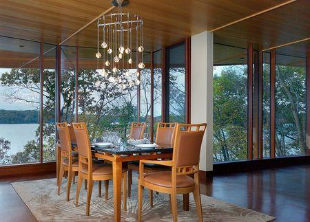 Poze Sufragerie - Sufrageria intr-o casa moderna cu privelisti naturale superbe