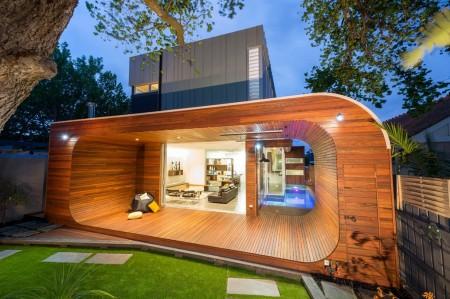 Poze Fatade - Prispa moderna din lemn