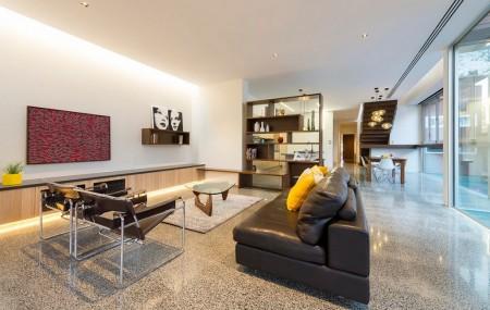 Poze Living - Living modern cu perete din sticla