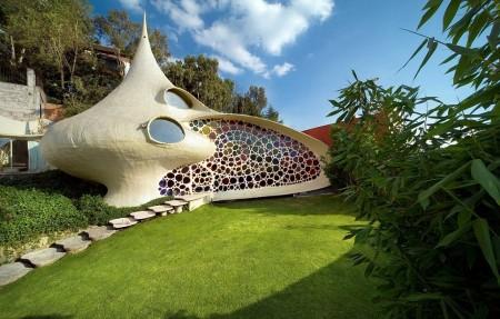 Poze Fatade - Casa cochilie, un exemplu reusit de arhitectura organica