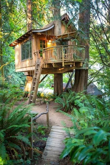 Poze Locuri de joaca - Ce ziceti de o mica casuta de vacanta construita in copaci?