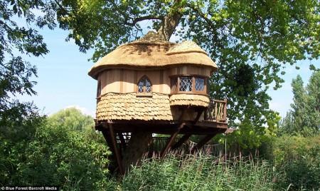 Poze Locuri de joaca - Casuta rustica construita intr-un copac