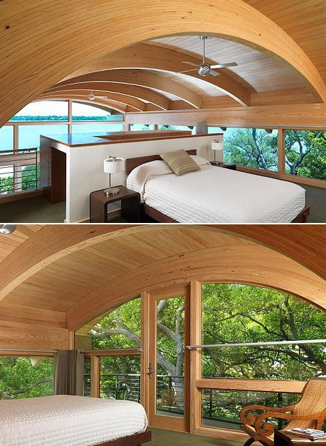 Poze Dormitor - Dormitor la mansarda ... printre copaci