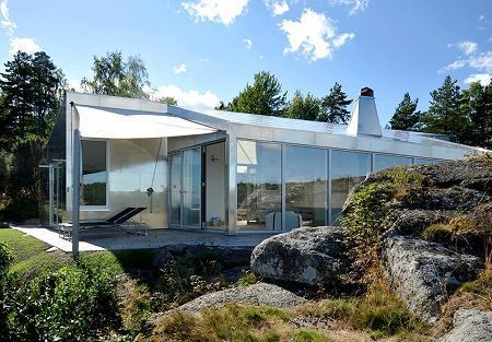 Poze Fatade - Casa cu fatada din aluminiu