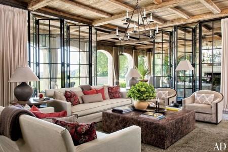 Poze Living - Camera de zi a casei modelului Gisele Bundchen