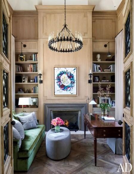Poze Birou si biblioteca - Biblioteca supermodelului Gisele Bundchen