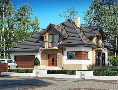 Poze Fatade - Casa eleganta, cu mansarda, 3 dormitoare, birou si garaj pentru 2 masini