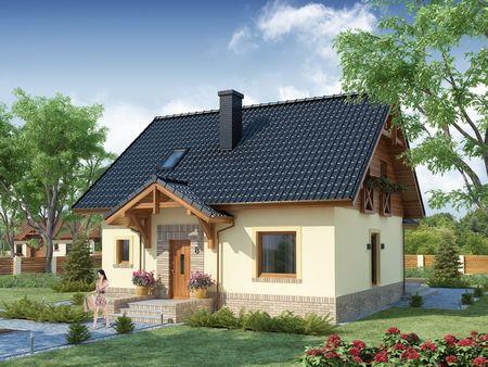 Poze Fatade - Casa frumoasa cu mansarda din lemn