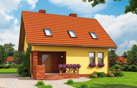 Poze Fatade - Casa cu arhitectura simpla si compacta insa atragatoare prin culorile folosite