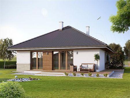 Poze Fatade - Casa arhitectura clasica cu terasa din lemn