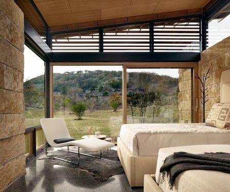 Poze Dormitor - Un dormitor modern cu o priveliste incantatoare