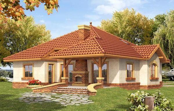 Poze Fatade - Semine de terasa decorat cu caramida