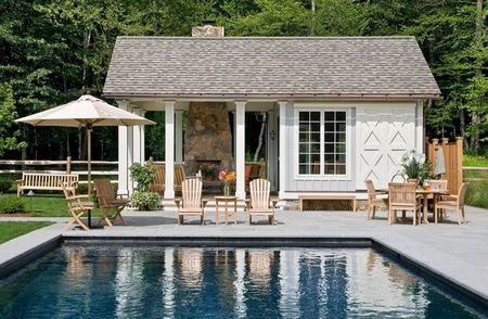 Poze Piscina - Un frumos si practic pavilion langa piscina