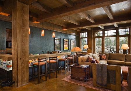 Poze Sufragerie - Sufragerie rustica, cu mult lemn si cu o priveliste deosebita