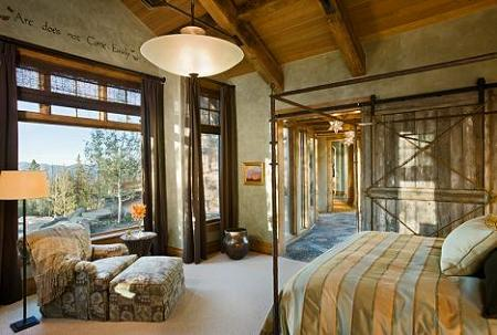 Poze Dormitor - Nuante placute in dormitor si o priveliste deosebita