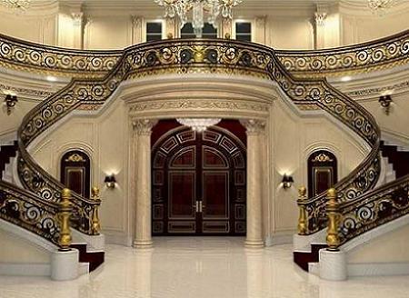 Poze Intrare si hol - Holul somptuos al vilei Palatul Regal, Florida