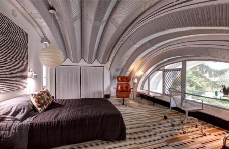 Poze Dormitor - Imagine amenajare dormitor la mansarda