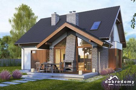 Poze Fatade - Casa cu mansarda, terasa cu semineu exterior - o locuinta clasica si moderna