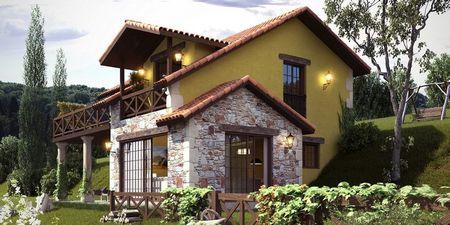 Poze Fatade - Casa cu terase spectaculoase construita pe un teren in panta