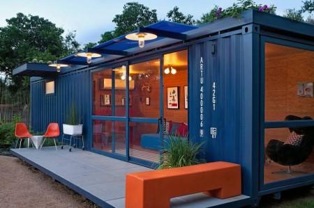 Poze Terasa - Terasa unei case de vacanta amenajate intr-un container