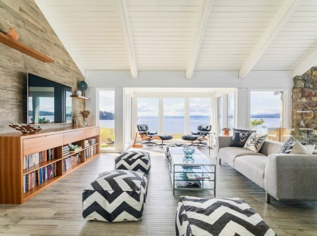 Poze Living - Living modern casa de vacanta pe malul oceanului