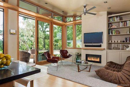 Poze Living - Livingul intr-o casa de vacanta moderna