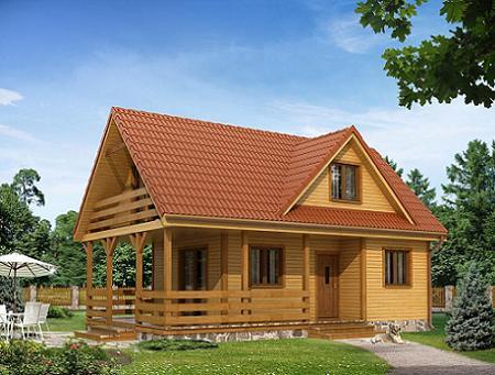 Poze Case lemn - Casa de vacanta din structura usoara, mica si ieftina, cu 3 dormitoare
