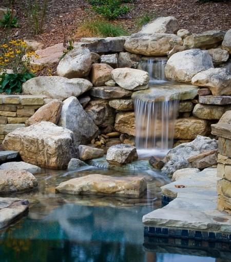 Poze Cascada si iaz - Circuitul apei in... gradina: cascada, iaz, piscina