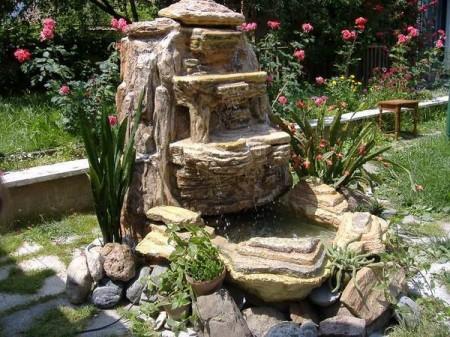 Poze Cascada si iaz - Cascada de gradina din piatra cu sistem de recirculare a apei