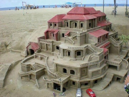 Poze Haioase - Castelul din nisip