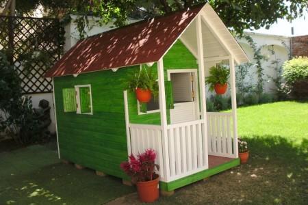 Poze Locuri de joaca - Casuta din lemn cu veranda Clara pentru Alex