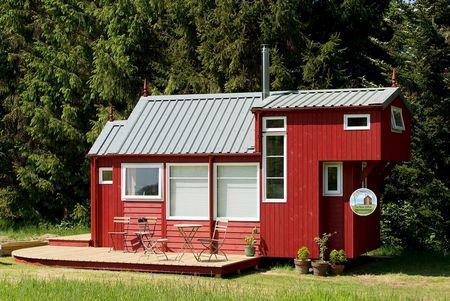 Poze Case lemn - Casa ecologica modulara construita din lemn