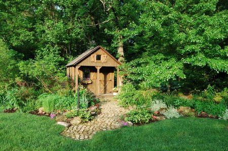Poze Casute de gradina - Casuta de gradina realizata din lemn natur