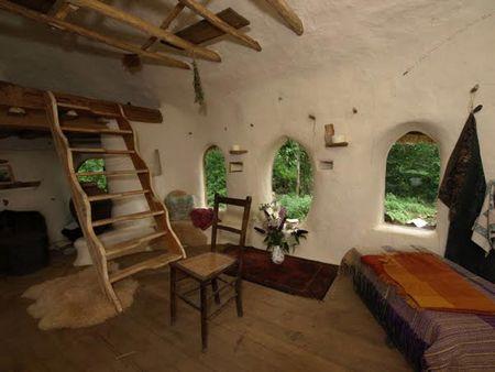 Poze Living - Interiorul pitoresc al unei case ecologice