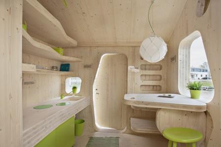 Poze Case lemn - Casuta moderna din lemn pentru studenti