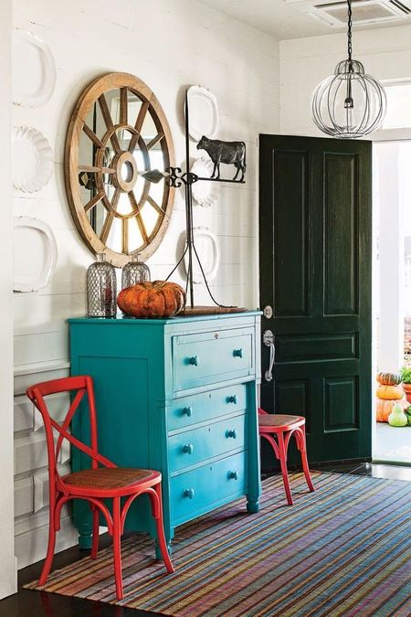 Poze Intrare si hol - Design interior vintage in holul casei