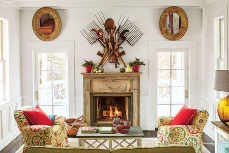 Poze Seminee - Semineul intr-un interior vintage