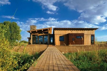 Poze Case lemn - Casa moderna din lemn