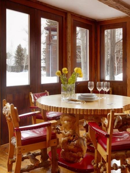 Poze Sufragerie - Amenajare sufragerie rustica