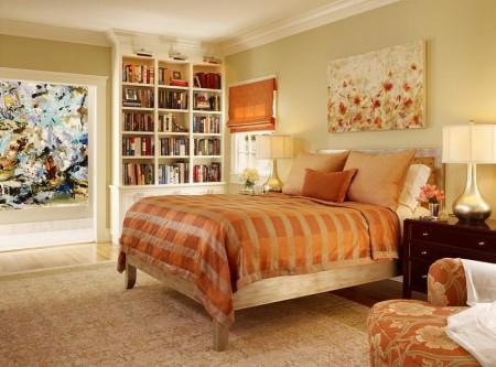 Poze Dormitor - Dormitor contemporan in culori calde