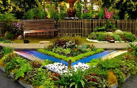 Poze Gradina de flori - Gradina amenajata cu plante de diverse sortimente