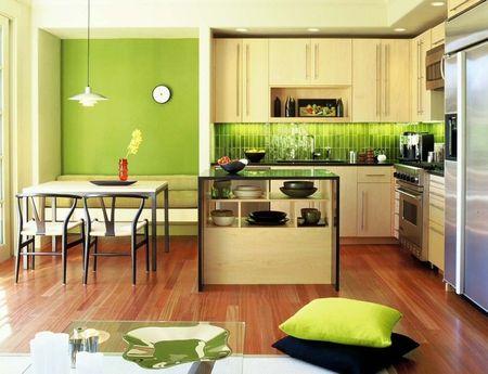 Poze Bucatarie - culoare-verde-bucatarie-moderna.jpg