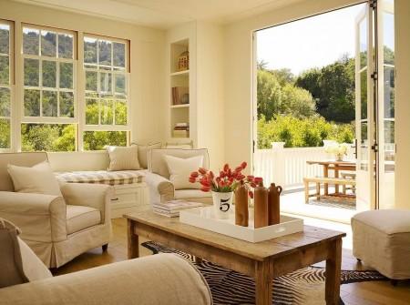 Poze Living - Culorile deschise amplifica atmosfera calda in orice amenajare interioara