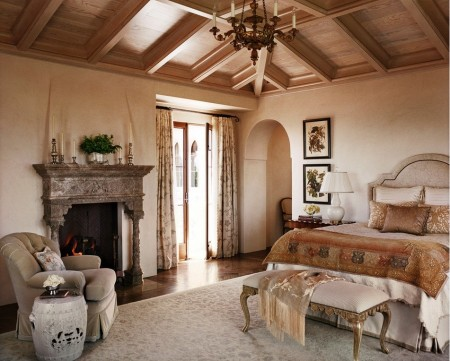 Poze Dormitor - Culorile naturale domina interioarele in stil mediteranean