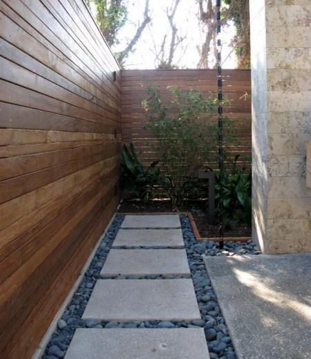 Poze Garduri si porti - Gard modern din lemn