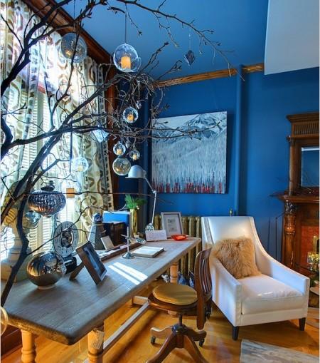 Poze Birou si biblioteca - Magia sarbatorilor de iarna in biroul de acasa