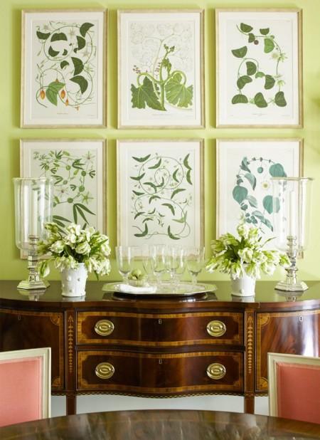 Poze Sufragerie - Imagini cu motive florale pentru un decor de primavara