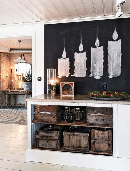 Poze Decoratiuni Craciun - Decor de Craciun intr-o casa cu un design interior vintage