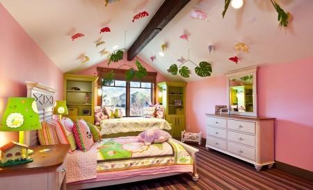 Poze Copii si tineret - Decor cu fluturi in camera copiilor