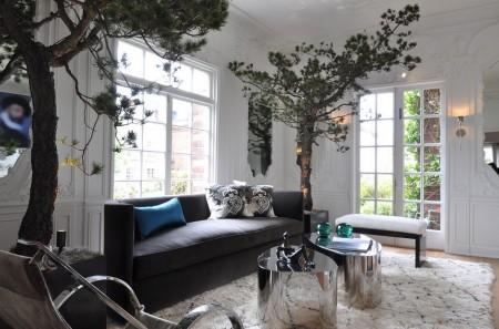 Poze Living - Un decor glamour pentru living